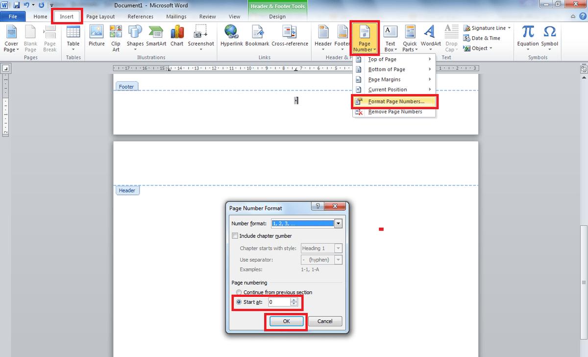 كيفية ترقيم الصفحات في الوورد المرسال