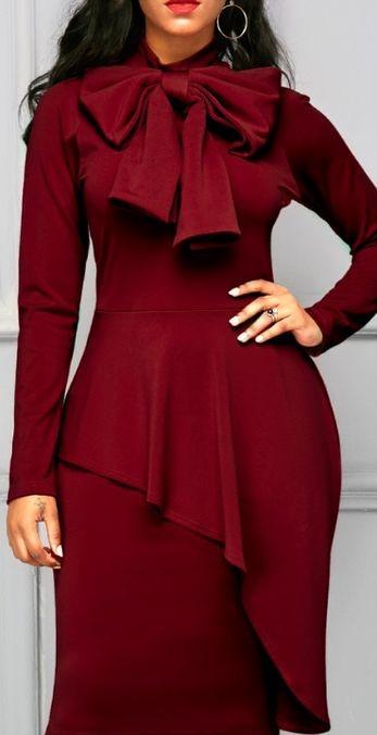 فستان احمر بسكارف