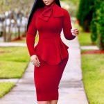 اناقة المرأة في عيد الحب تعتمد على اللون الاحمر فستان-احمر-