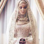لفات طرحة العروس المحجبة لتبدو لفة-عروس-با