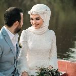 لفات طرحة العروس المحجبة لتبدو لفة-عروس-بت
