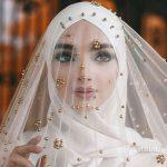 لفات طرحة العروس المحجبة لتبدو لفة-عروس-بف