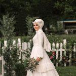 لفات طرحة العروس المحجبة لتبدو لفة-عروس-بو