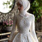 لفات طرحة العروس المحجبة لتبدو لفة-عروس-شي