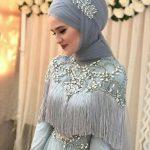 لفات طرحة العروس المحجبة لتبدو لفة-عروس-فض