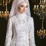 لفات طرحة العروس المحجبة لتبدو لفة-عروس-مط