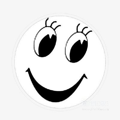 وجه مبتسم مفرغ