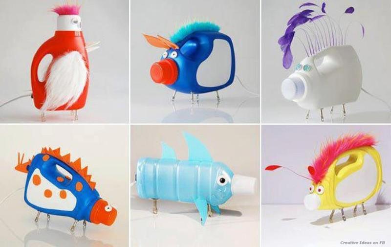 اعمال فنية من اعادة تدوير البلاستيك