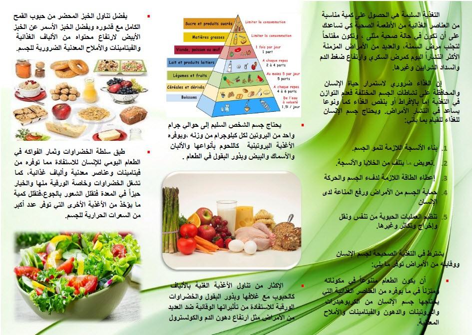 مطويات عن الغذاء الصحي المرسال