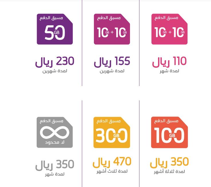 bf70a61ed باقة كيو نت المسبقة الدفع 10 جيجابايت + 10 جيجابايت بسعر 110 ريال لمدة شهر  ، و يضاف اليها 5% ضريبة القيمة المضافة لتصبح 115.5 ريال شهريا .