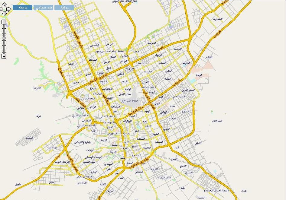 خريطة مدينة الرياض المرسال