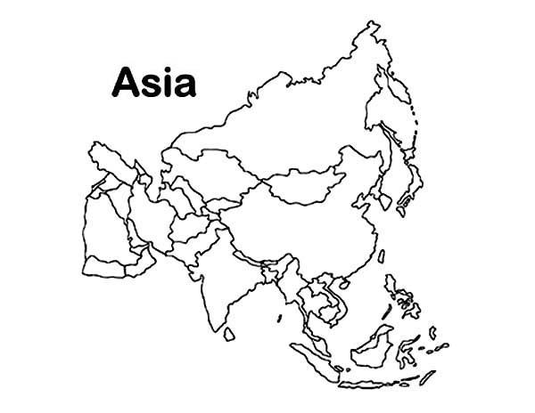 خريطة اسيا صماء بدون الوان المرسال