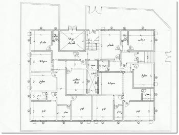 مخطط بيت دور واحد 300 متر المرسال