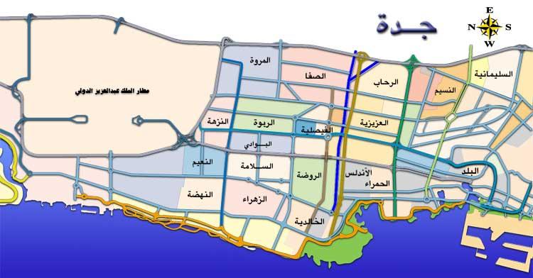 خريطة احياء جدة المرسال