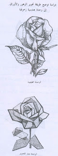 رسم وحدة زخرفية نباتية