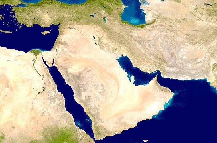 خريطة شبه الجزيرة العربية المرسال