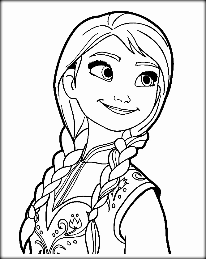anna elsa coloring page Best of Disney Frozen Coloring ...