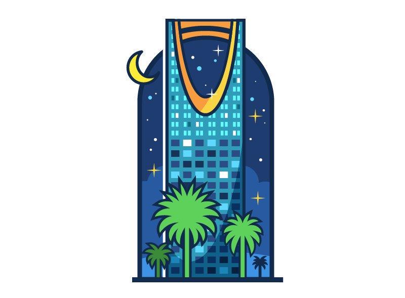 رسم معالم الرياض برج الفيصلية برج المملكة مقالات