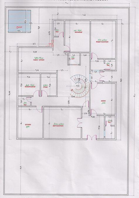 تصميم منزل دور واحد اقتصادي المرسال