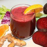 فوائد عصير الشمندر والبرتقال
