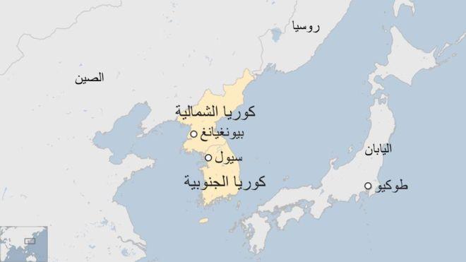 خريطة كوريا الجنوبية بالعربي بالتفصيل المرسال