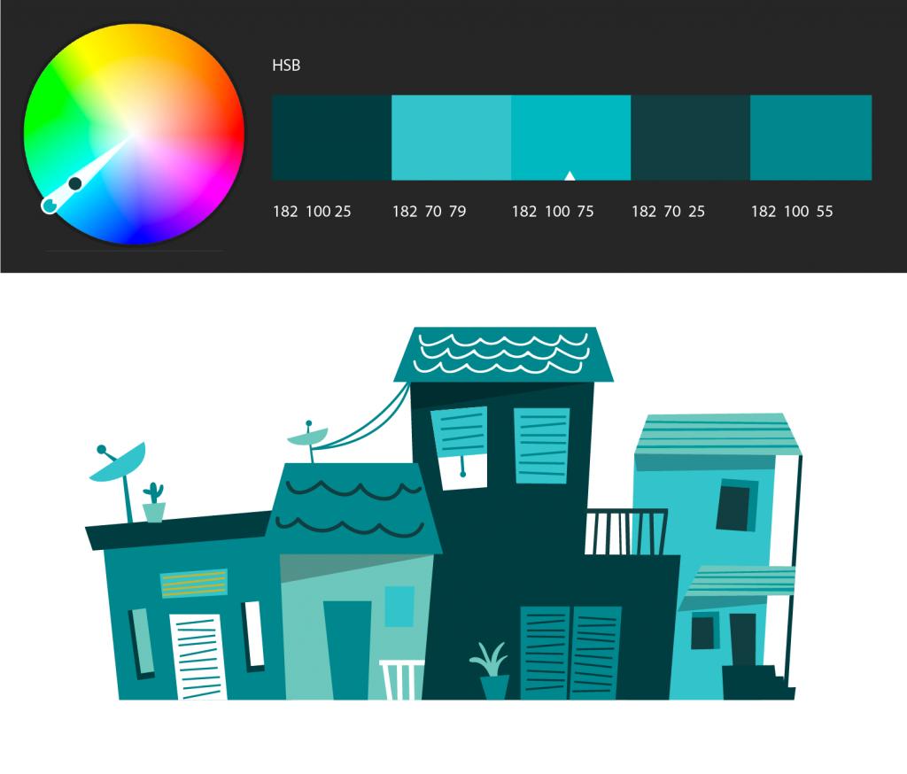 خدمات تطبيق adobe color لتنسيق