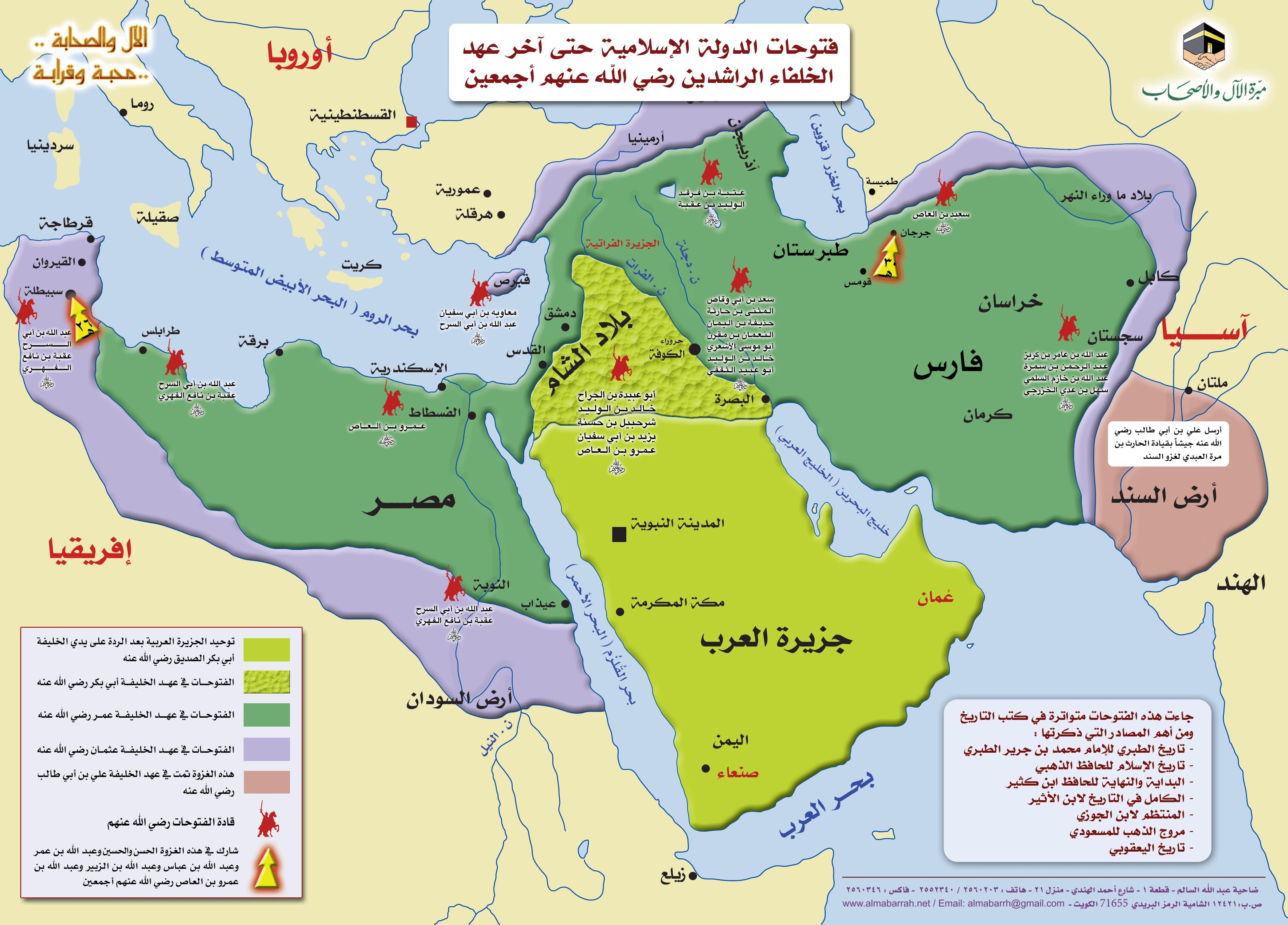 خريطة الفتوحات الاسلامية المرسال