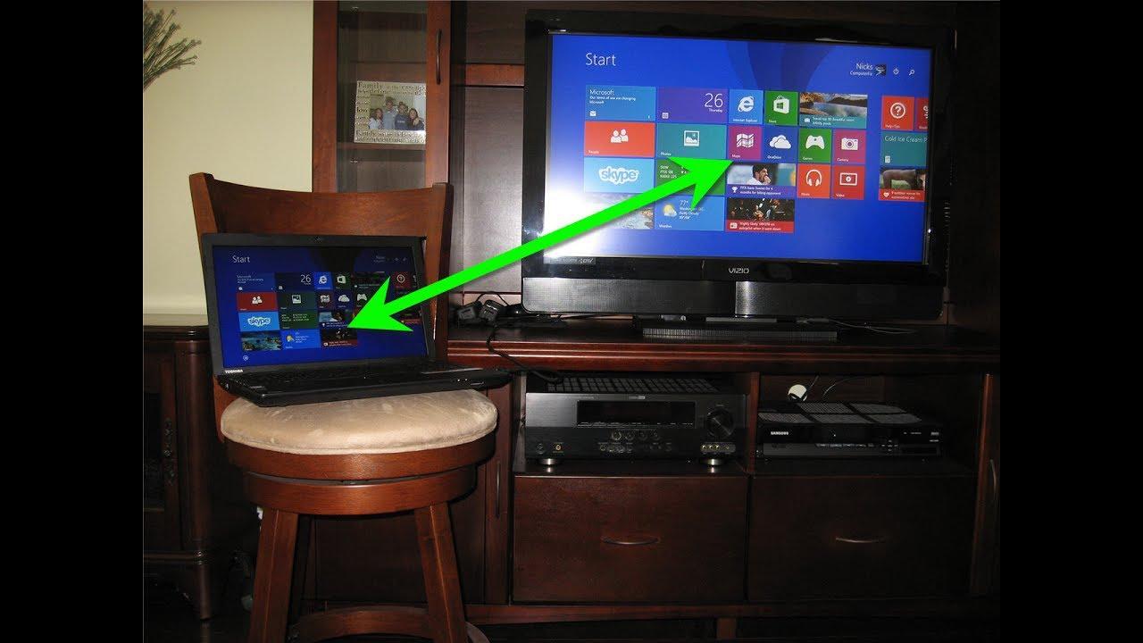 طريقة تشغيل اللابتوب على التلفزيون بدون كيبل المرسال