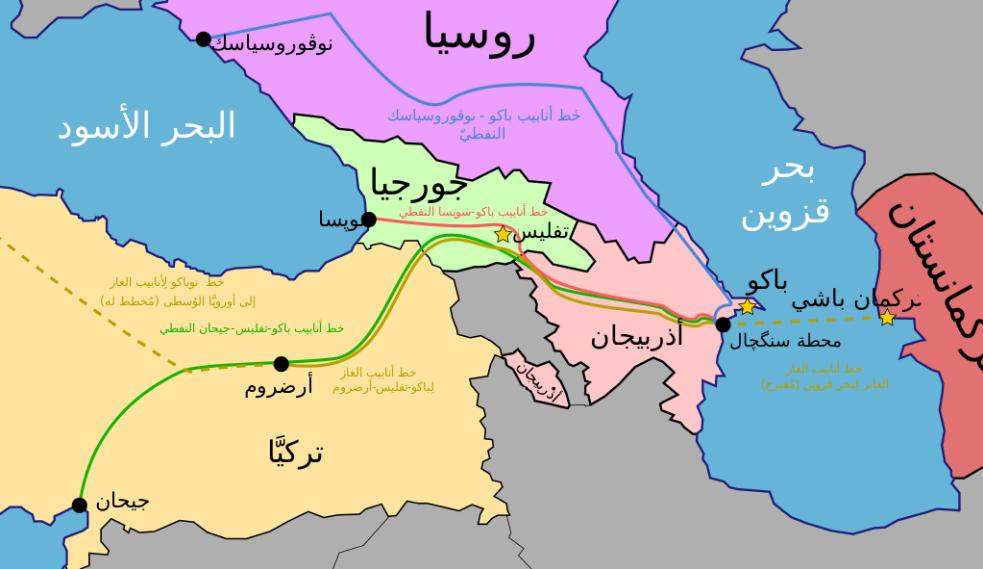 تفاصيل خريطة جورجيا بالعربي المرسال