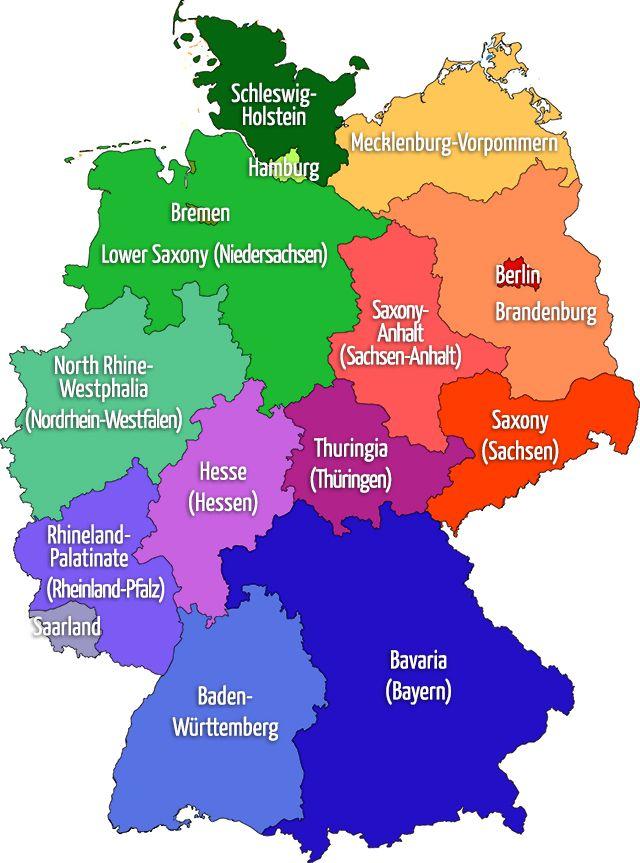 التعليم 2019_ خريطة المانيا والمسافات