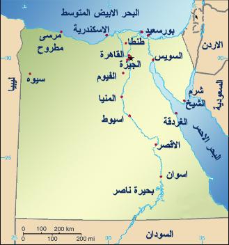خريطة محافظات مصر المرسال