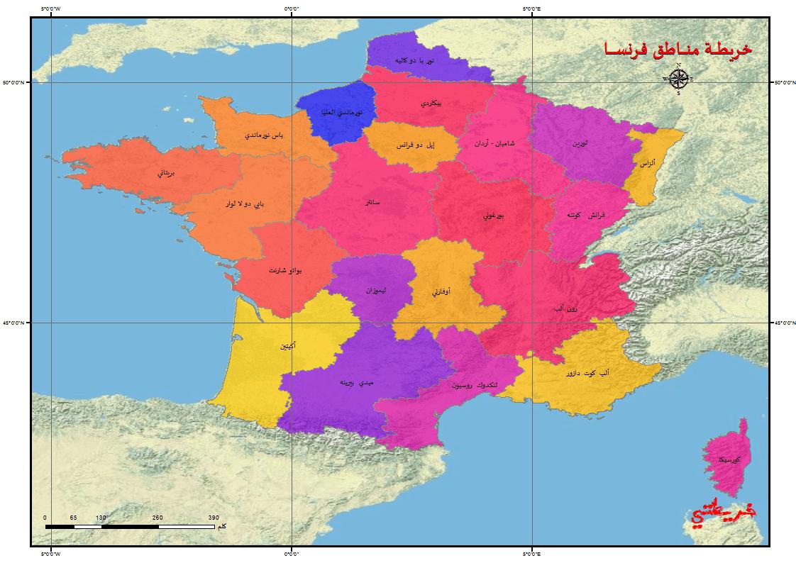 التعليم 2019_ خريطة فرنسا بالمسافات
