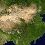 خريطة الصين الطبيعية