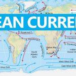 خريطة التيارات البحرية في العالم