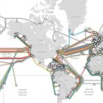 خريطة الكابلات البحرية للانترنت