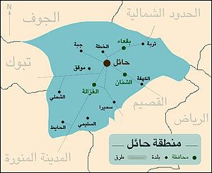خريطة مناطق السعودية ومحافظاتها المرسال