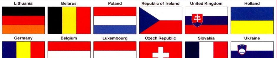 اعلام الدول الاوروبية بالصور