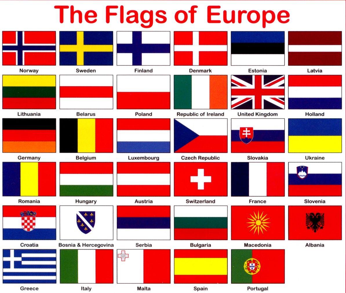 اعلام الدول الاوروبية بالعربي المرسال