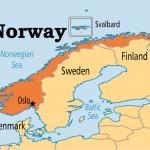 خريطة النرويج والدول المجاورة