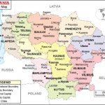 خريطة ليتوانيا