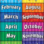 اسماء الاشهر التي تتكون من 31 يوم