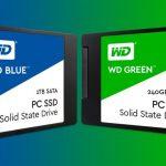 الفرق بين الهارد الازرق والاخضر ssd