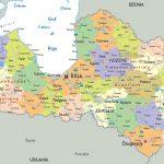 خريطة دولة لاتفيا