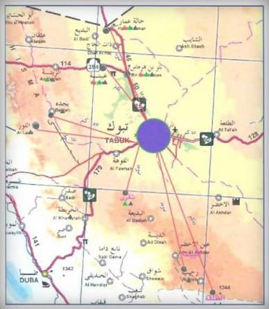 خريطة احياء مدينة تبوك