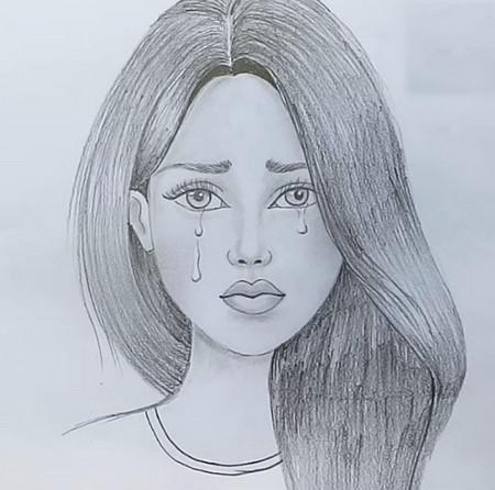 رسومات بنات كيوت بالرصاص المرسال