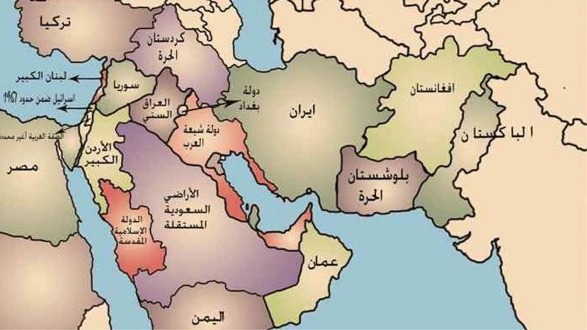 خريطة دول الشرق الاوسط المرسال