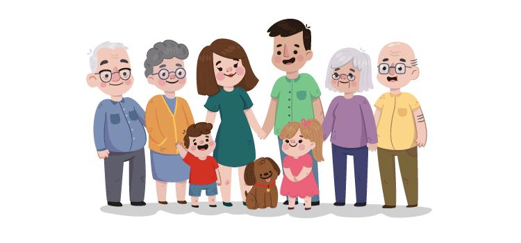 قصة قصيرة بالانجليزي عن العائلة المرسال