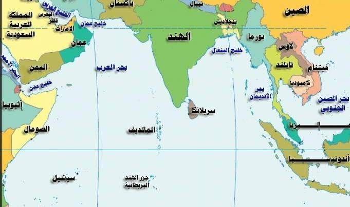 خريطة جزر المالديف بالعربي المرسال