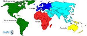 خريطة العالم باللغة العربية بجودة عالية | المرسال