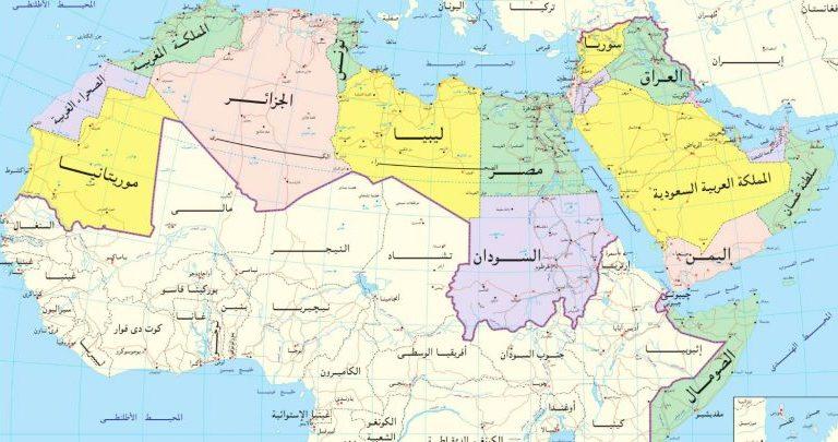 المسطحات المائية التي يشرف عليها الوطن العربي المرسال